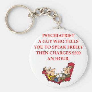 PSYCHIATRY BASIC ROUND BUTTON KEYCHAIN