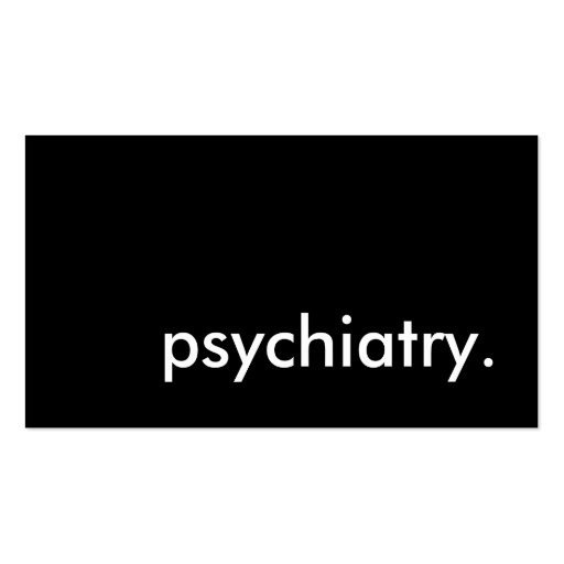 psychiatry. Double-Sided standard business cards (Pack of 100)