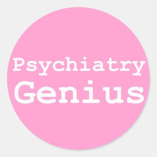 Psychiatry Genius Gifts Classic Round Sticker
