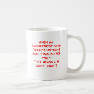 psychiatry classic white coffee mug