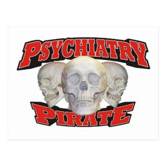 Psychiatry Pirate Postcard