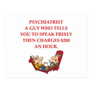 PSYCHIATRY POSTCARD