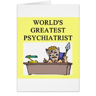 psychiatry psychiatrist joke card