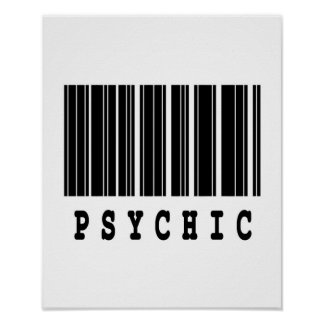 psychic barcode design poster