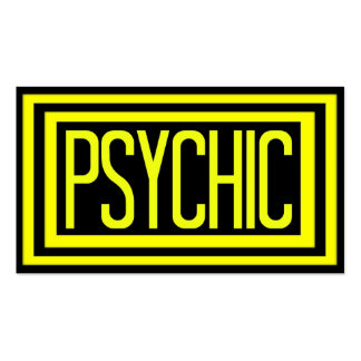 Psychic Black and Yellow Matted Frame Double-Sided Standard Business Cards (Pack Of 100)