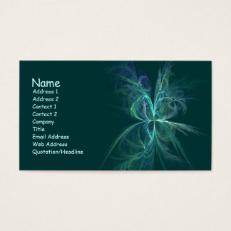 Psychic Energy Fractal Business Card