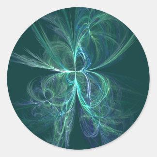 Psychic Energy Fractal Classic Round Sticker