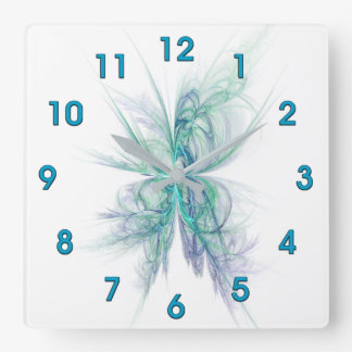 Psychic Energy Fractal Square Wall Clock