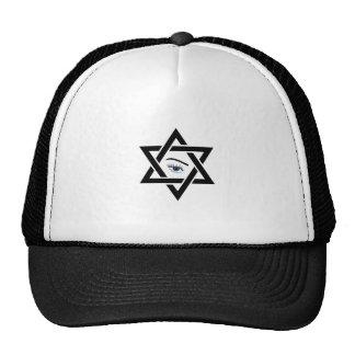 psychic eye within a star of David Trucker Hat