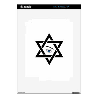 psychic eye within a star of David Decal For iPad 2