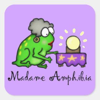 Psychic Frog Square Sticker