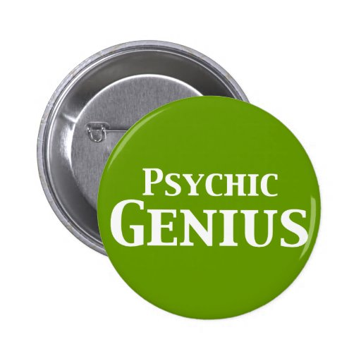 Psychic Genius Gifts Pinback Buttons