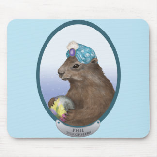 Psychic Groundhog Predicts the Future Mouse Pad