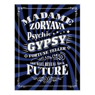 Psychic Gypsy Fortune Teller Postcard