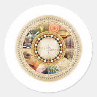 Psychic Library Classic Round Sticker