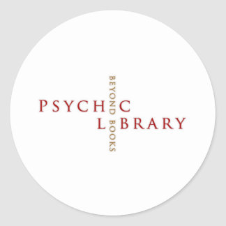 Psychic LIbrary Gifts Classic Round Sticker