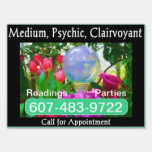 Psychic Medium Claivoyant Lawn Sign