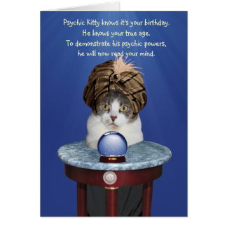 Psychic Mikie Funny Birthday Greeting Card