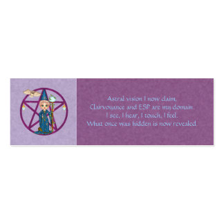 Psychic Powers Spell Card Mini Business Card