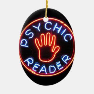 Psychic Reader Neon Sign Ceramic Ornament