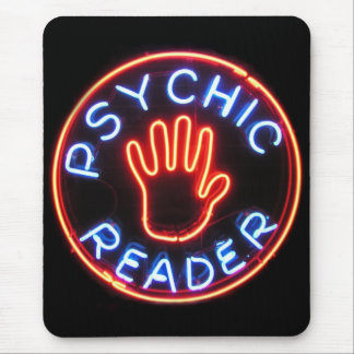 Psychic Reader Neon Sign Mouse Pad