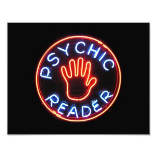 Psychic Reader Neon Sign Photograph