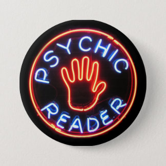 Psychic Reader Neon Sign Pinback Button