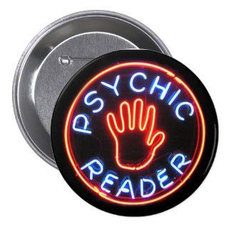 Psychic Reader Neon Sign Pinback Button