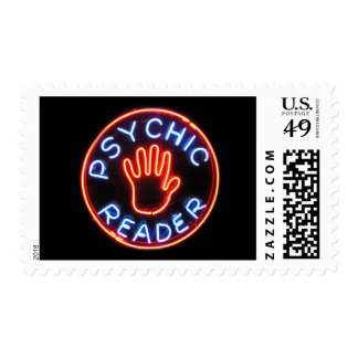 Psychic Reader Neon Sign Stamps