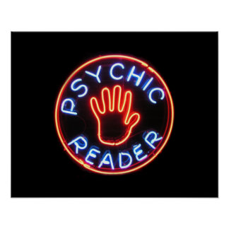 Psychic Reader Neon Sign Poster