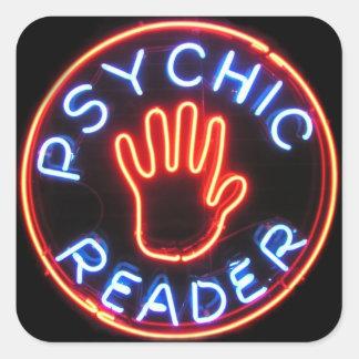 Psychic Reader Neon Sign Square Sticker