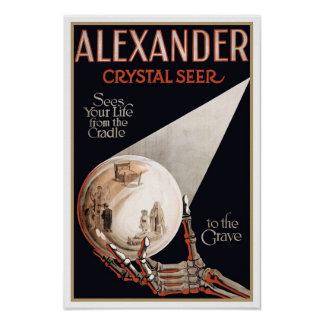 Psychic Readings by Alexander, 1910 Print