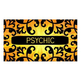 Psychic Sunshine Damask Business Card