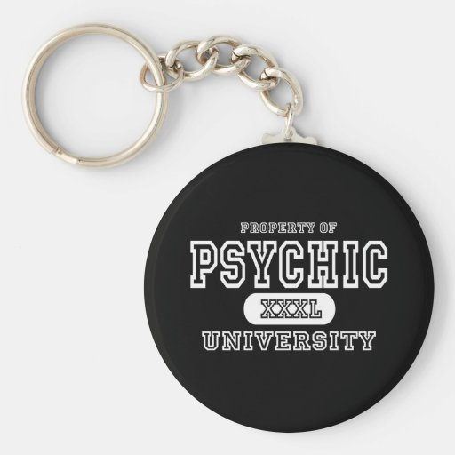 Psychic University Dark Basic Round Button Keychain