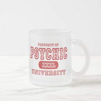 Psychic University 10 Oz Frosted Glass Coffee Mug