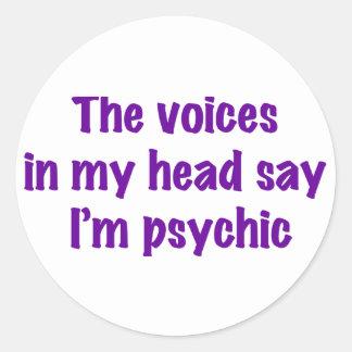 Psychic Voices Classic Round Sticker