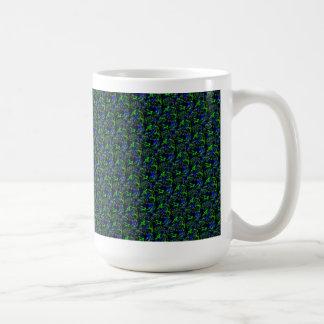 Psycho azul verde modelo taza