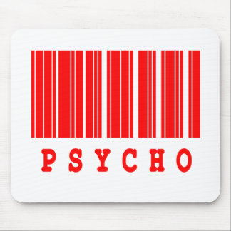 psycho barcode design mouse pad