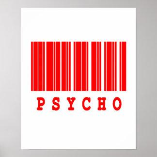 psycho barcode design poster