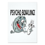 Psycho Bowling 5x7 Paper Invitation Card