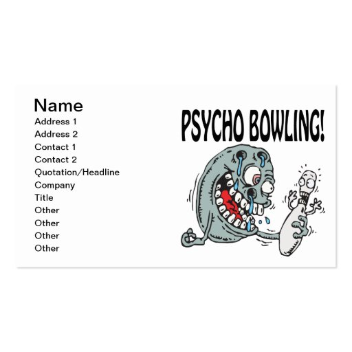 Psycho Bowling Business Card Templates