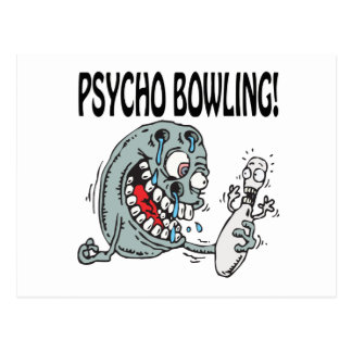Psycho Bowling Postcard