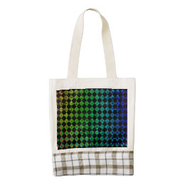Psycho Checkers Zazzle HEART Tote Bag