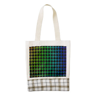 Psycho Checkers Zazzle HEART Tote Bag