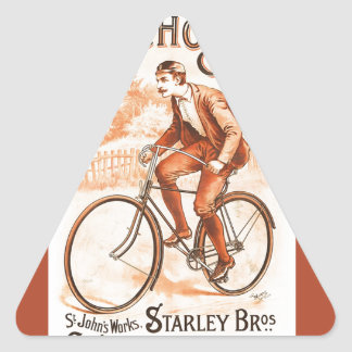 Psycho Cycles ~ St. John's Works 1892 Triangle Sticker