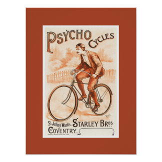 Psycho Cycles ~ St. John's Works ~ Coventry 1892 Posters
