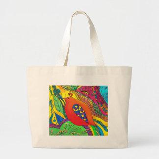 Psycho-Delic Dan Large Tote Bag