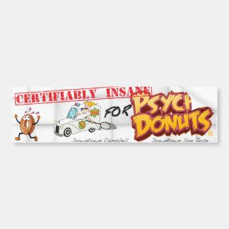 Psycho Donuts Bumper Sticker Car Bumper Sticker