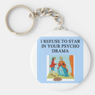 psycho drama queen key chains