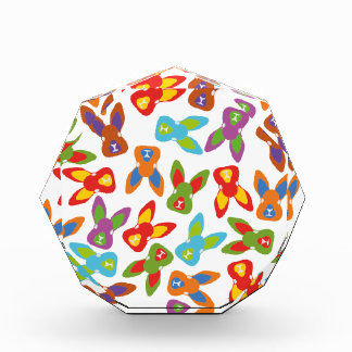 Psycho Easter Pattern colorful Acrylic Award